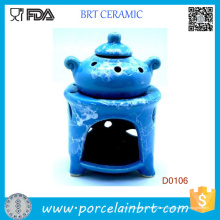 Blue Pot Design y Potpourri Wax Oil Burner Vaporizador